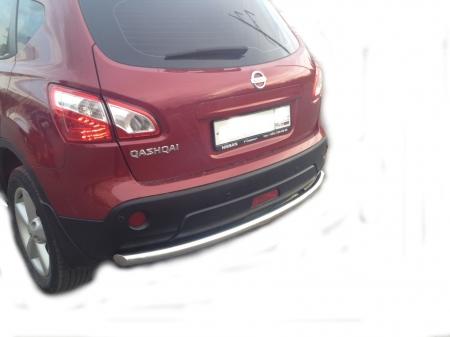 Защита заднего бампера Nissan Qashqai 2008 (радиус) d60